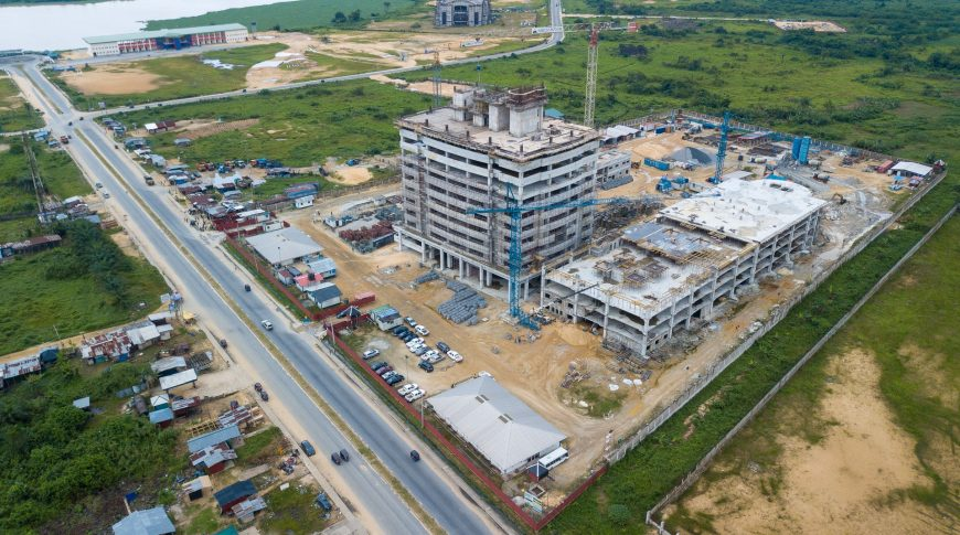 Construction in Progress - Aerial View of Site (megastarng.com)